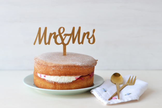 Adornos tartas cake toppers personalizados mr and mrs