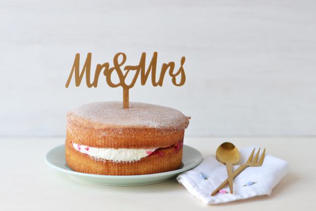 Adornos tartas cake toppers personalizados mr and mrs