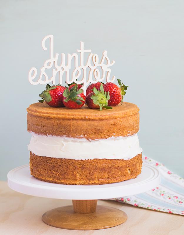 Adornos tartas cake toppers personalizados JUNTOS ES MEJOR