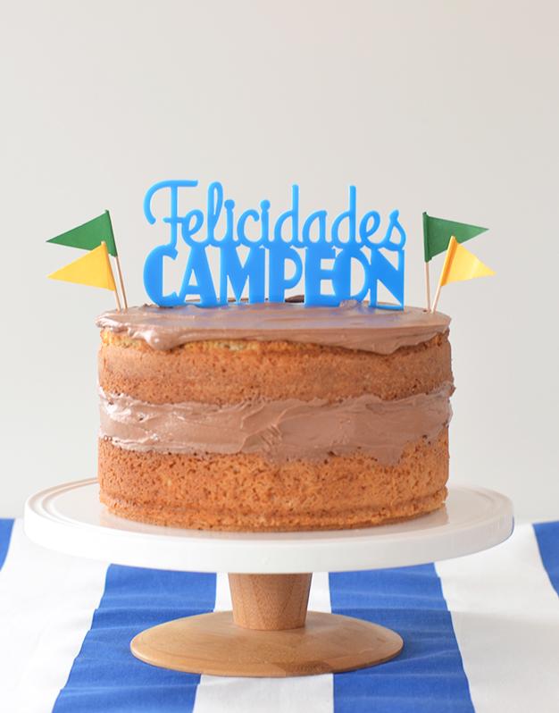 Adornos tartas cake toppers personalizados para cumpleaños felicidades campeón