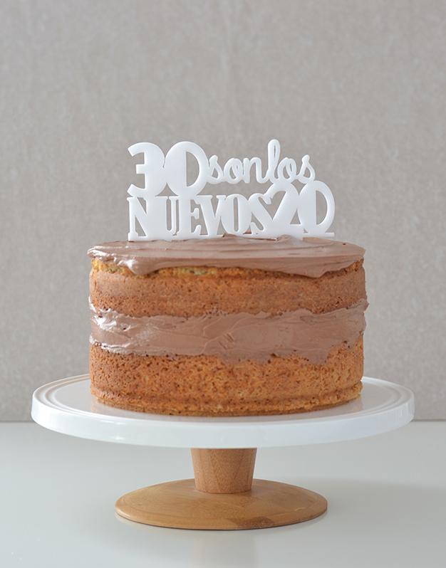 Adornos tartas cake toppers personalizados para cumpleaños 30 son los nuevos 20