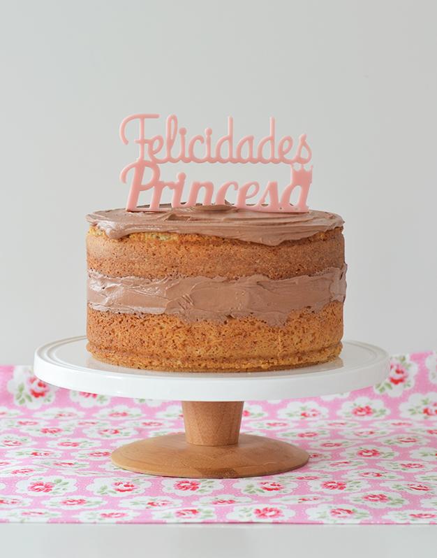 Adornos tartas cake toppers personalizados para cumpleaños felicidades princesa