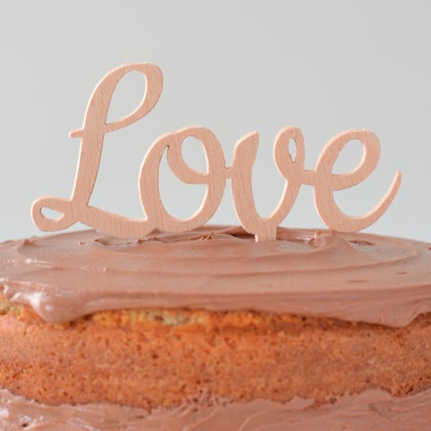 Adornos tartas cake toppers personalizados love