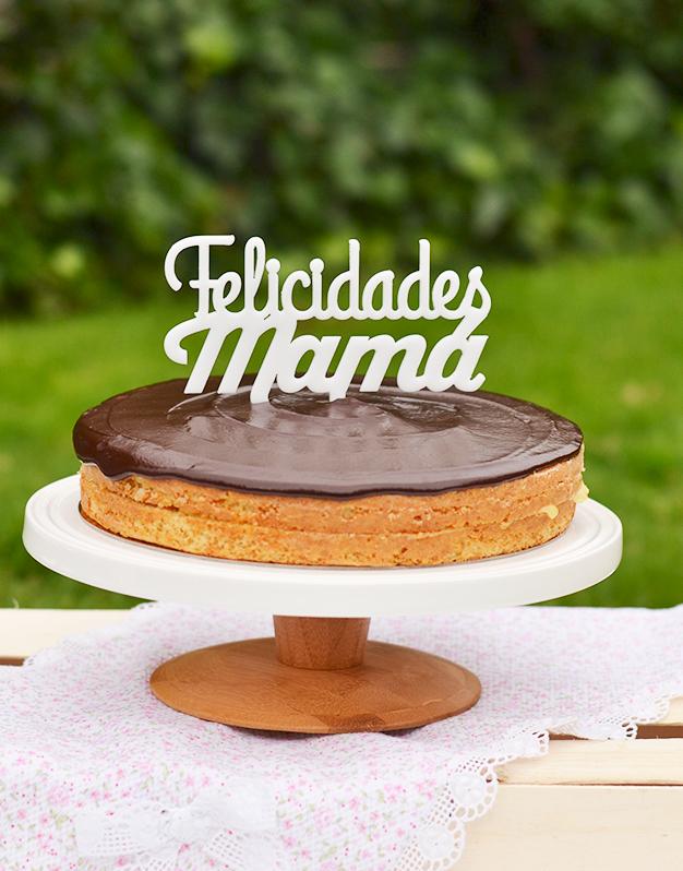 Adornos tartas cake toppers personalizados para cumpleaños felicidades mamá