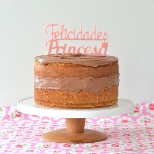 ADORNOS TARTAS CAKE TOPPERS PERSONALIZADOS BODAS Y CUMPLEAÑOS FELICIDADES PRINCESA