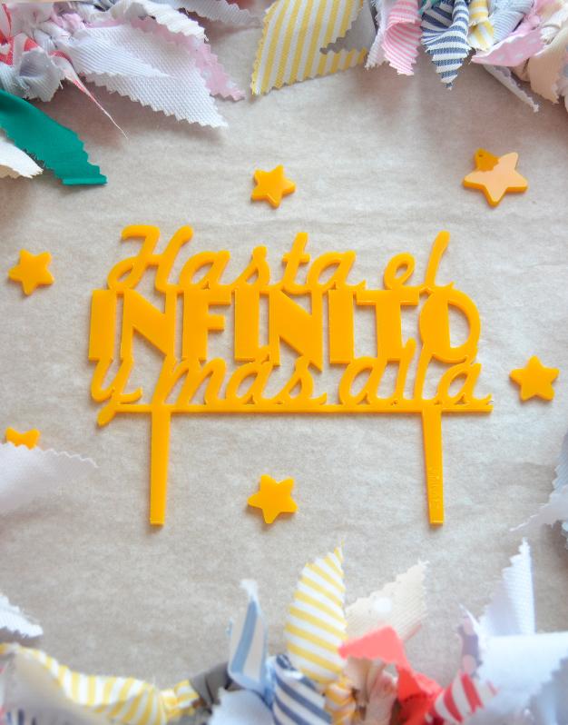 Adornos tartas cake toppers personalizados hasta el infinito y más allá