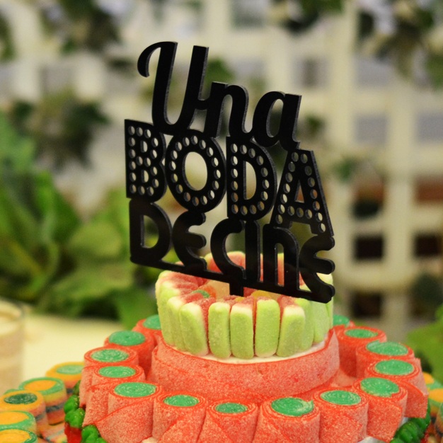 Adornos tartas cake toppers personalizados Una boda de cine