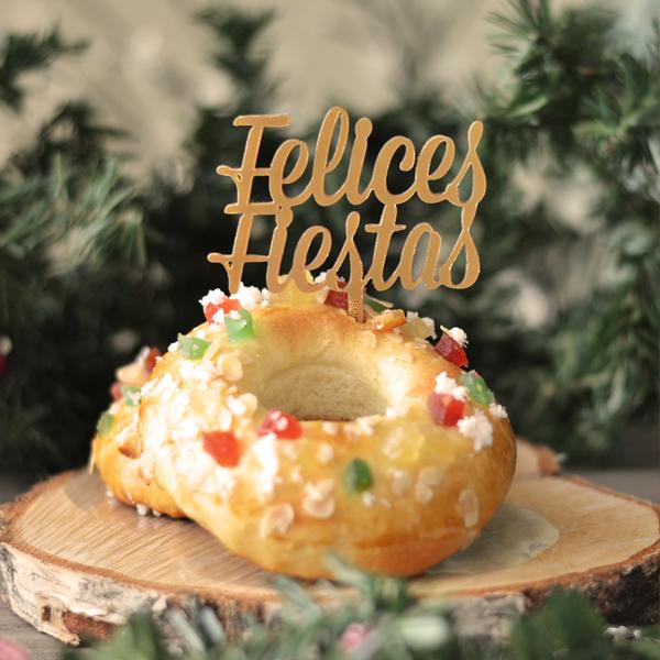 Felices Fiestas cake topper adorno para tartas cake topper Navidad Knots perfecto para decorar tus dulces navideños. ¡Descubre los colores disponibles!