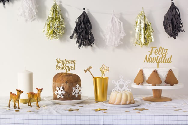 Feliz Navidad cake topper adorno para tarta Navidad diseño exclusivo de Knots made with love. Haz una tarta y combínalo con este knots. ¡Descubre los colores disponibles!