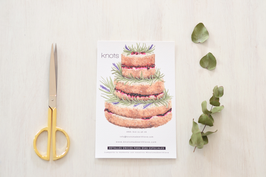 Adornos tartas cake toppers personalizados knots made with love