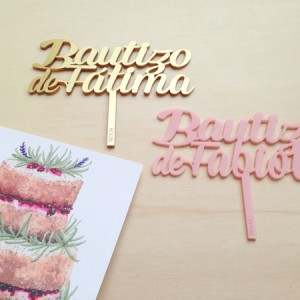 Adornos tartas cake toppers personalizados knots made with love
