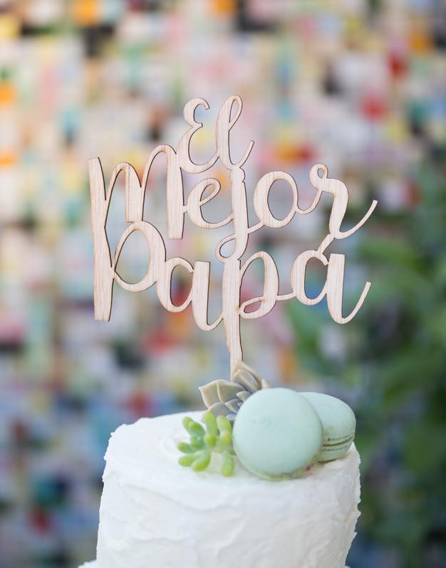 El mejor papa adorno para tarta cake topper para el Día del Padre o su cumpleaños