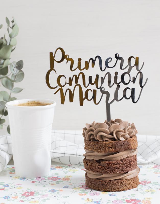 ADORNOS TARTAS CAKE TOPPERS PRIMERA COMUNION PERSONALIZADO: No te pierdas los cake toppers personalizados para tartas de comunión.