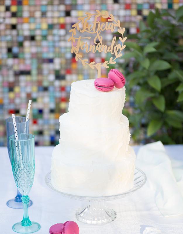 Cake toppers con nombres personalizados corona perfecto para adornos de tartas de boda.