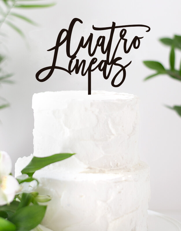 ADORNOS TARTAS CAKE TOPPERS BODA PERSONALIZADOS: Cake toppers personalizados con mensaje para decorar tartas en fiestas y eventos.