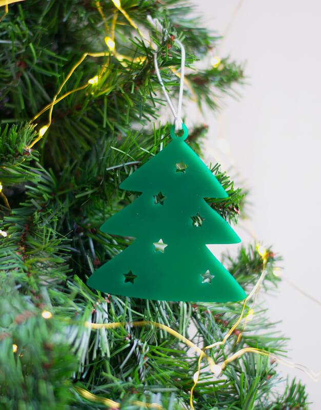 Adorno árbol con estrellas