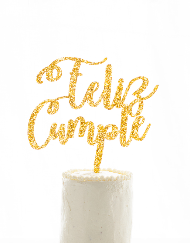 Feliz cumple cake topper knots made with love