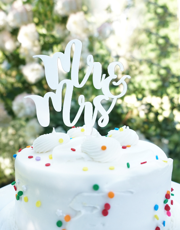 Mr and Mrs cake topper adorno para tarta knots made with love.