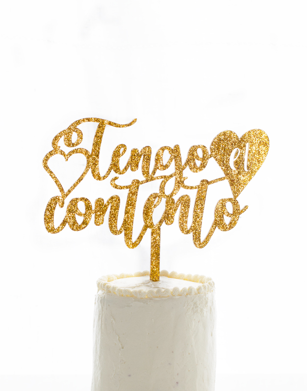 TENGO EL CORAZON CONTENTO CAKE TOPPER KNOTS MADE WITH LOVE