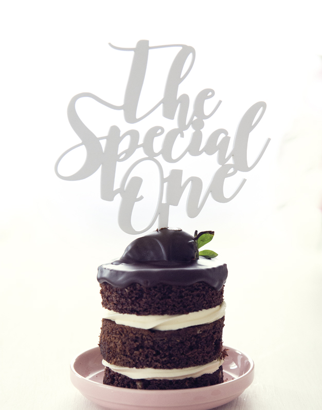 Cake topper de boda The Special One