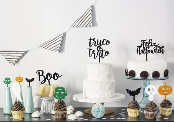 No te pierdas nuestras propuestas diferentes para fiestas infantiles con cake toppers adornos para tarta halloween y otros productos decorativos.