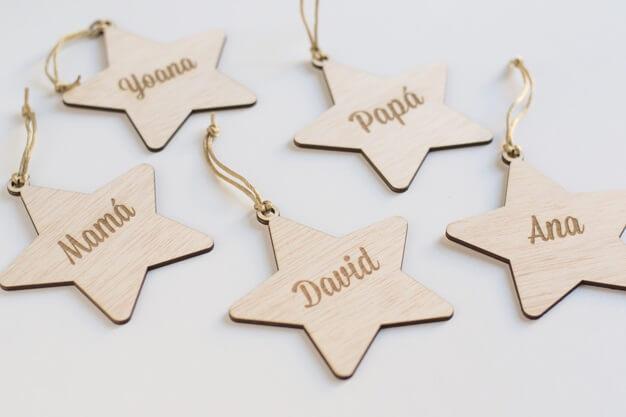 Adorno Navidad Personalizado estrella con nombre Naviknots, diseñamos adornos desde 2014 ¡Decora tu hogar con #naviknots, los adornos navideños que triunfan entre las celebrities!