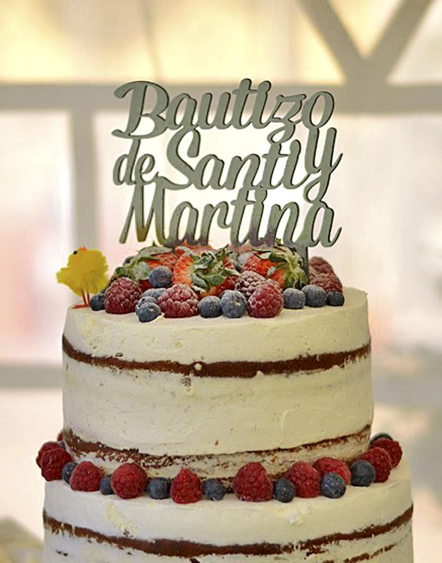 ADORNOS TARTAS CAKE TOPPERS BAUTIZO PERSONALIZADO Cake toppers personalizados con nombres para tartas.