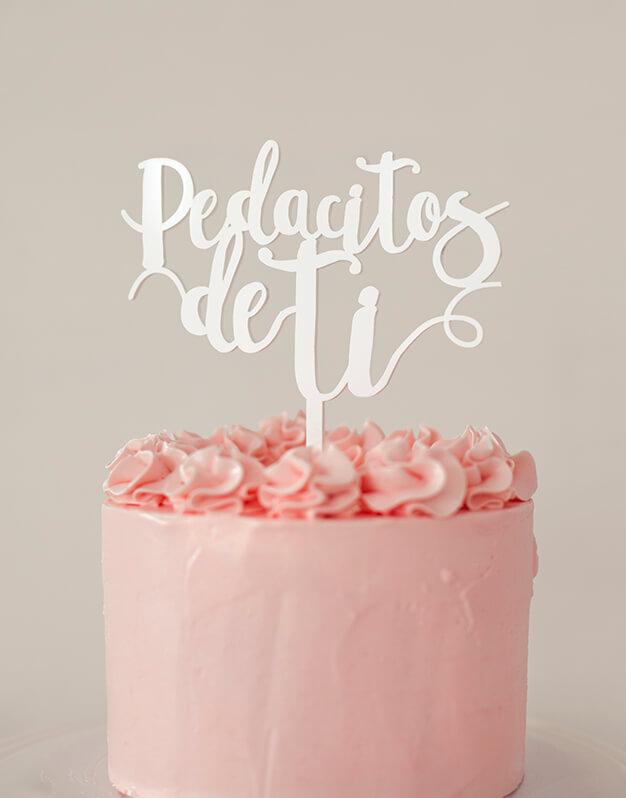 Pedacitos de ti cake topper adorno para tarta de la canción más famosa de Antonio Orozco. No te pierdas la colección de San Valentin de knots.