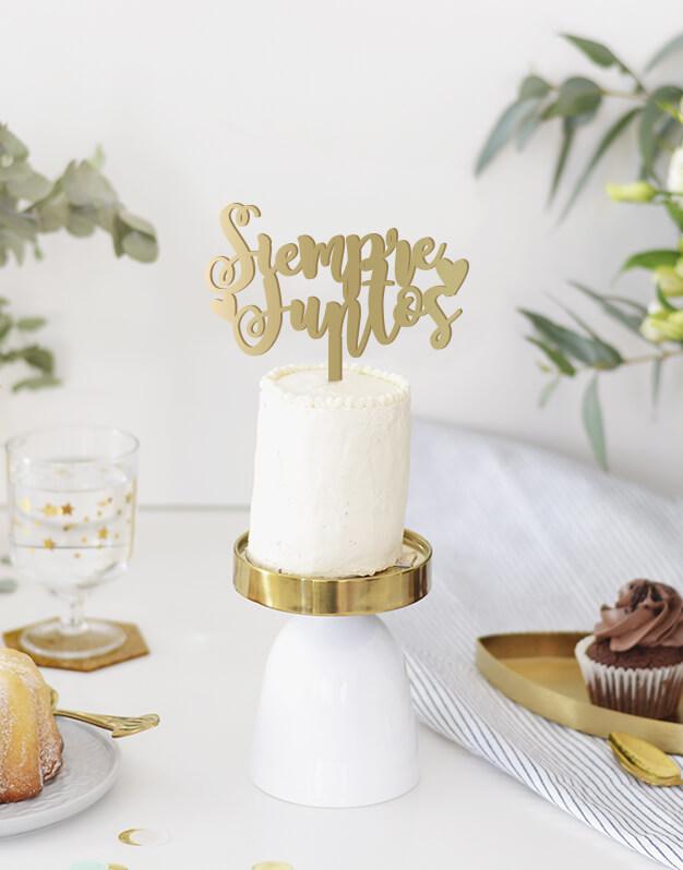 Siempre Juntos cake topper adornos para tarta boda