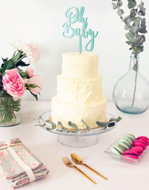oh baby cake topper adorno para tarta, descubre en nuestra web los adornos más originales para decorar tu tarta en celebraciones familiares.