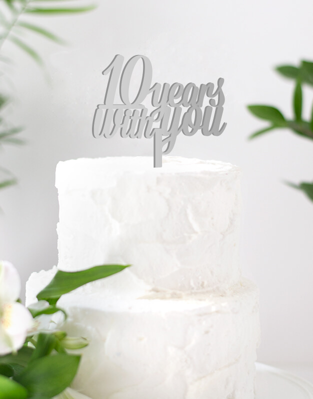 Número years with you cake topper adornos para tarta boda o para una celebración romántica.Una propuesta original para sorprender en vuestro día especial.