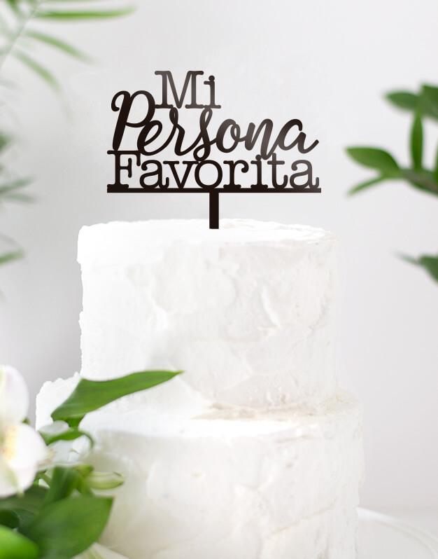 Mi persona favorita cake topper adornos para tarta boda