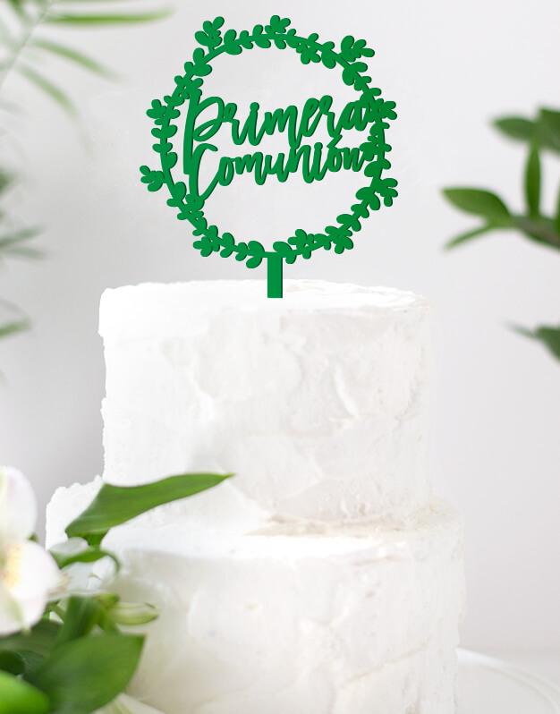 Primera Comunión Corona cake topper adorno personalizado para tartas de comunión, descubre el nuevo diseño en formato corona para esta bonita celebración.