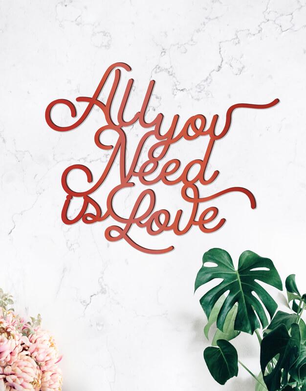 All you need is love cartel boda silueta silueta y eventos, este cartel de diseño quedará fantástico como fondo de phtocall o en la recepción de tu evento. Descúbrelo