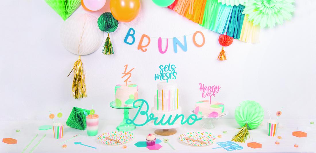 Una fiesta de medio año seis meses para Bruno, descubre la inspiración para preparar una fiesta de medio año a todo color en este post de Knots.
