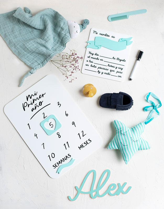 Hemos creado un pack regalo bebé color perfecto para recién nacidos, con detalles para su dormitorio y para seguir su crecimiento. ¡Lo quieres seguro!