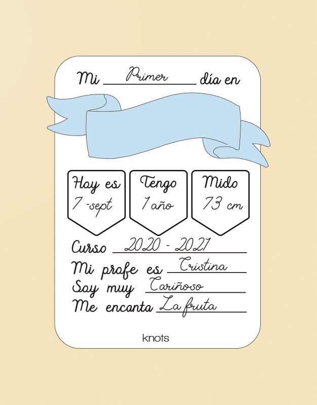 Hemos creado un diseño único para crear recuerdos, una placa rellenable recuerdo cole para el primer y último día ¡Descúbrela!