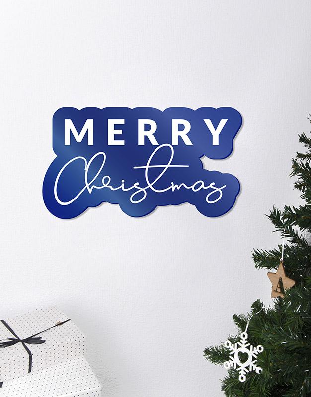 Merry Christmas Cartel Este adorno de diseño único quedará espectacular para la bienvenida de tus comidas de Navidad. ¡Descúbrelo!