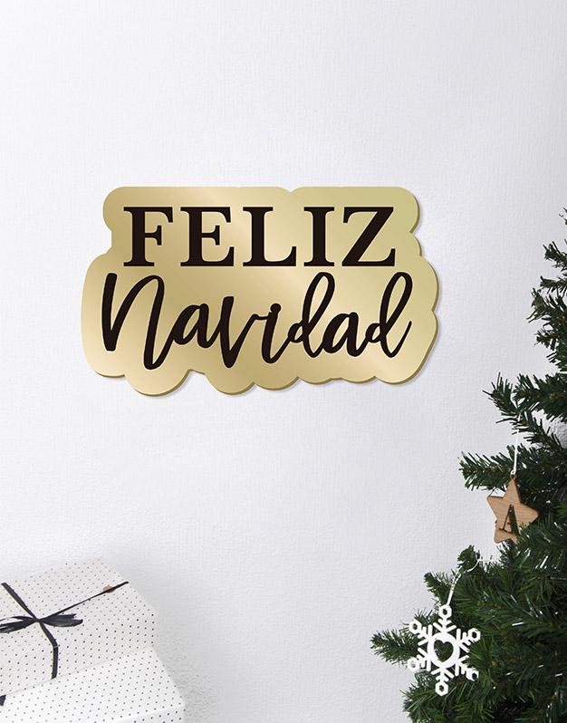 Feliz Navidad Cartel Este adorno de diseño único quedará espectacular para la bienvenida de tus comidas de Navidad. ¡Descúbrelo!