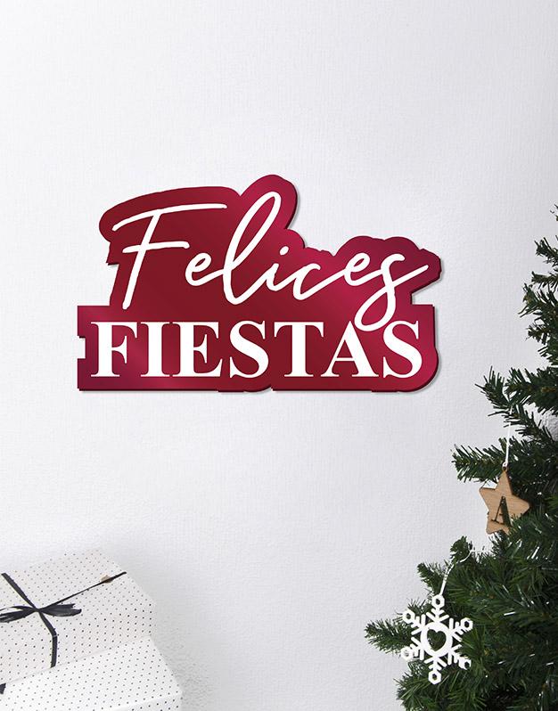Felices Fiestas Cartel Este adorno de diseño único quedará espectacular para la bienvenida de tus comidas de Navidad. ¡Descúbrelo!