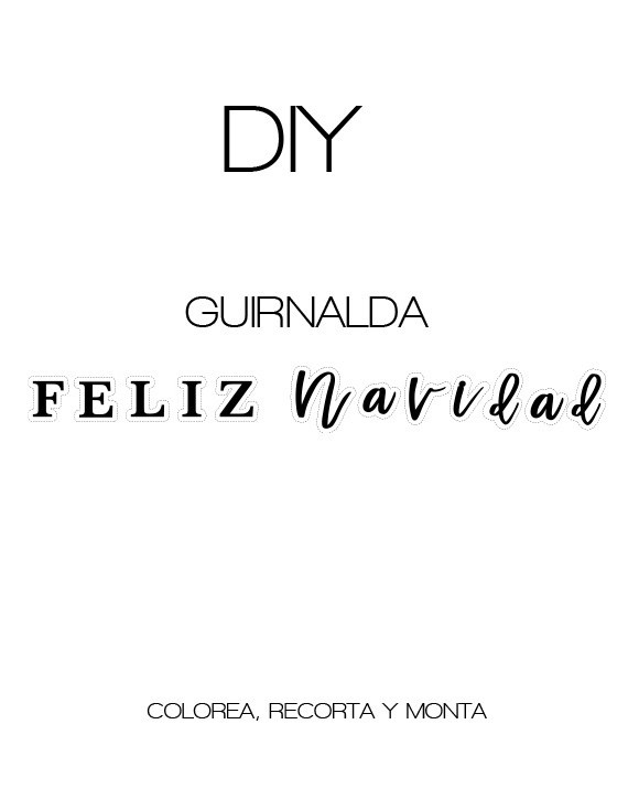 FREE Descargable DIY Guirnalda Feliz Navidad