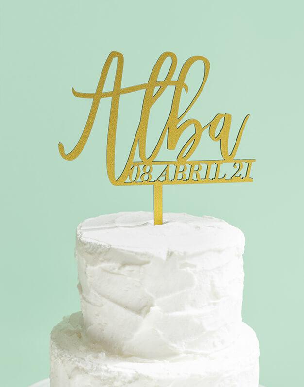 Cake Topper Personalizado nombre y fech
