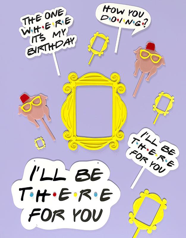 Cake topper Pavo Acción de Gracias inspirado Friends knots made with love para los amantes de las series en la ciudad de Nueva York. ¡Descúbrelo!