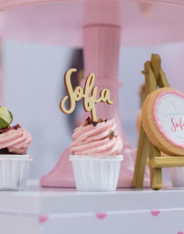 Pack 12 Mini Toppers para mini cupcakes