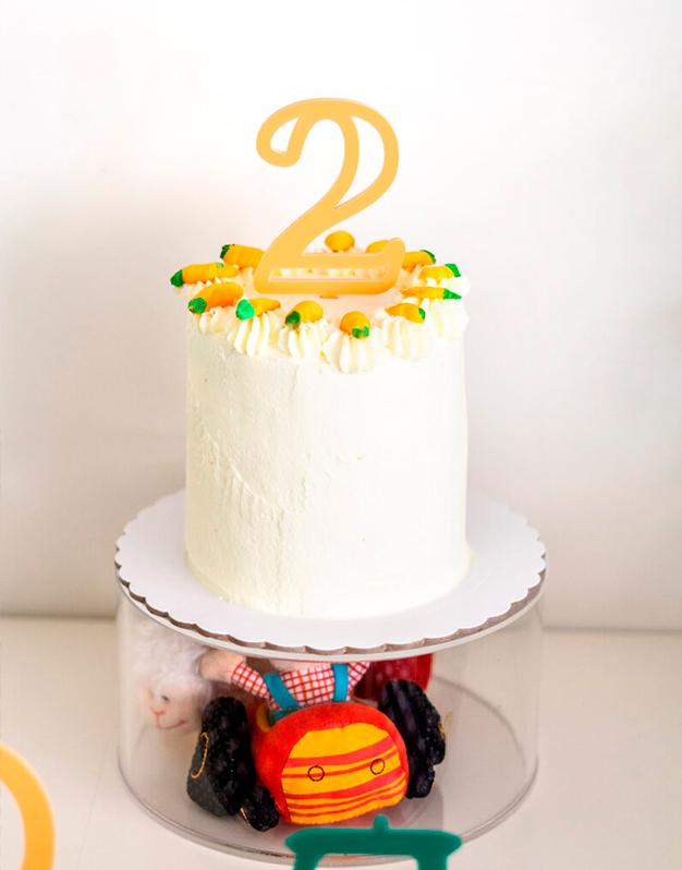Cake topper Número Modern con diseño único perfecto para fiestas de cumpleaños. Descubre la selección de colores que tenemos en la shop.